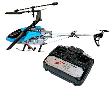 Adraxx Remote Operated 3D Crash Safe Alloy Helicopter Toy - Blue