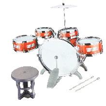 Adraxx Mini Jazz Drum Set With Drums Cymbal And Stool