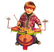 Adraxx Mini 2 in 1 Drum Set And Musical Organ Toy