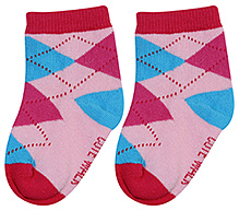 Cute Walk Ankle Length Socks - Argyle Design