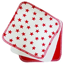 Nino Bambino Organic Cotton Star Printed Burp Cloths - Set Of 3