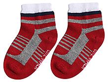 Cute Walk Ankle Length Socks - Stripes Pattern Print