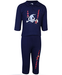 Cucumber Full Sleeves T-Shirt And Legging Navy Blue - Tom And Jerry Print
