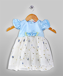 Floral Printed Dress - Blue