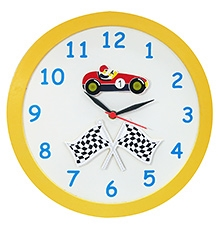 Kidoz Racer Economy Clock - Yellow And white