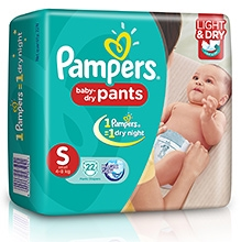 Pampers Pant Diapers Light And Dry Small - 22 Pieces