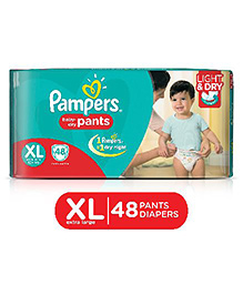 Pampers Pant Diapers Light And Dry Extra Large - 48 Pieces