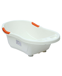 Fab N Funky Bath Tub Rabbit And Bear Print - White