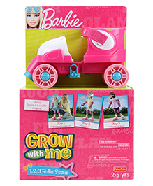 Fisher Price Grow With Me Barbie Roller Skates - Pink