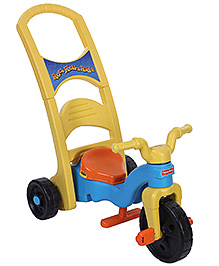 Fisher Price Rock Roll n Ride Trike Multi function Tricycle - Yellow and Blue