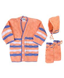 Babyhug Winter Wear Set - Orange