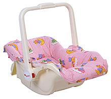 Infanto Babylove Carry Cot Cum Rocker Bear Print - Pink