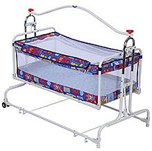 New Natraj Compact Cradle Teddy Print - Blue