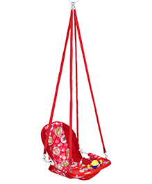 New Natraj Cozy Swing With Teddy Print - Red