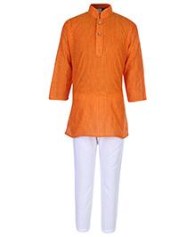 Babyhug Full Sleeves Kurta And Pajama Set - Orange