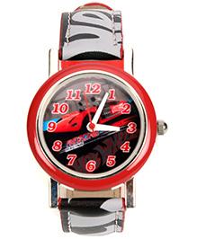 Hotwheels Racing Analog Watch With Print - Length 21.5 cm