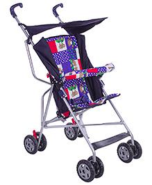 New Natraj Stroller Umbrella Buggy Deluxe Blue - Bear Print
