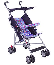 New Natraj Stroller Umbrella Buggy Deluxe - Blue