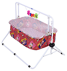 New Natraj Comfy Cradle Small Dots And Kitty Print - Red