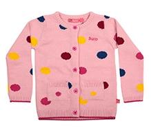 Buzzy Full Sleeves Sweater - Dot Intarsia