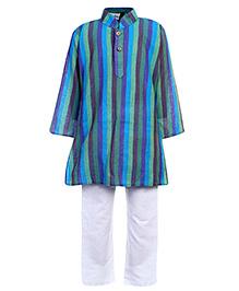 Babyhug Full Sleeves Kurta And Pajama Set - Vertical Stripe Print