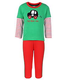 Paaple Full Sleeves T-Shirt And Leggings Set - Green