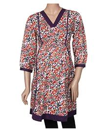 Uzazi Maternity Tunic Top - Floral Print