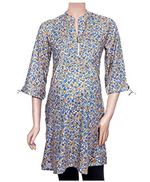 Uzazi Maternity Long Tunic Top - Floral Print - Medium