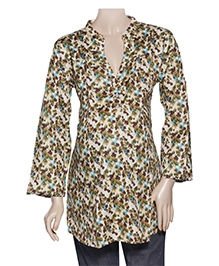 Uzazi Maternity Top Full Sleeves - Abstract Print