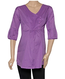 Uzazi Maternity Nursing Top Quarter Sleeves - Solid Color