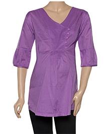 Uzazi Maternity Nursing Top Quarter Sleeves - Solid Color