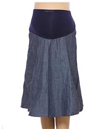 Uzazi Maternity Skirt Blue