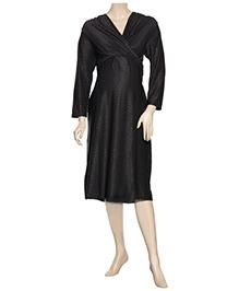 Uzazi Maternity Knot Style Evening Wear - Black