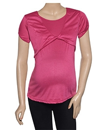 Uzazi Nursing Top Short Sleeves - Pink