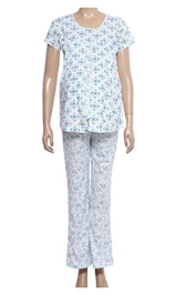 Uzazi Nursing Night Suit - Blue