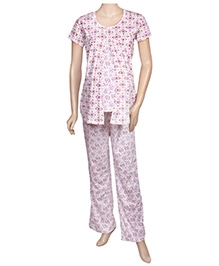 Uzazi Nursing Night Suit - Pink