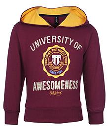 Ollypop Hooded Sweatshirt Full Sleeves - Purple
