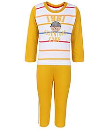 Paaple Full Sleeves T-Shirt And Leggings Set - Yellow
