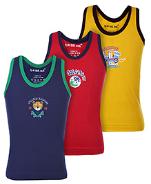 Doreme Vests Sleeveless Multicolor - Set Of 3
