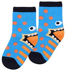Mustang Socks Ankle Length - Blue