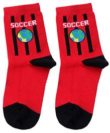 Mustang Ankle Length Socks - Red