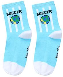 Mustang Ankle Length Socks - Aqua