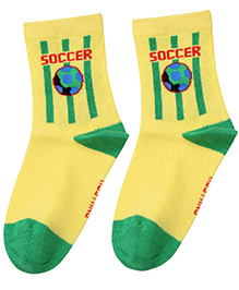 Mustang Ankle Length Socks - Yellow
