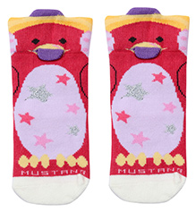 Mustang Ankle Length Socks - Star Print