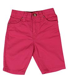 Gini & Jony Bermuda Style Shorts With Pockets - Pink