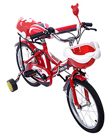 Fab N Funky Bicycle With Trainer Wheels - Red And Silver