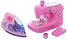 Fab N Funky Sewing Machine With Iron Combo Set Toy - Pink