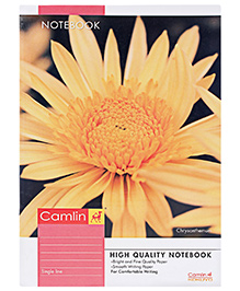 Camlin Single Line Notebook Orange - 140 Pages