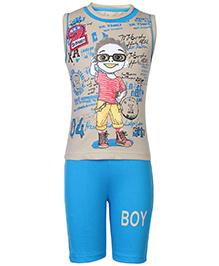 Babyhug Sleeveless T-Shirt And Shorts Set