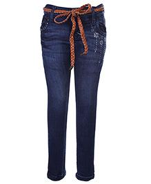 Gini & Jony Jeans With Belt - Blue